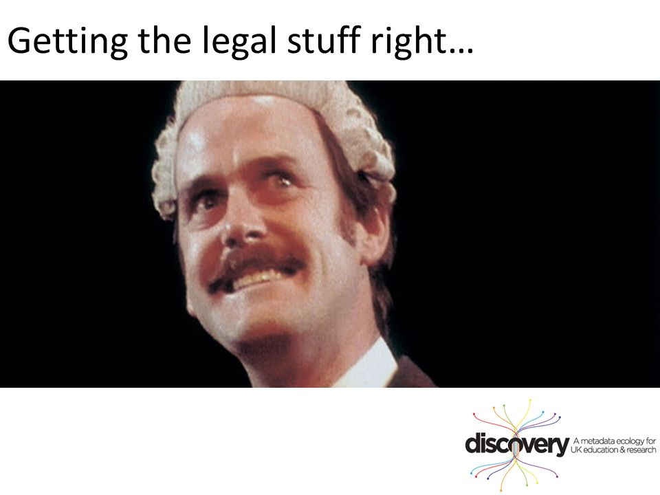 Getting the legal stuff right…