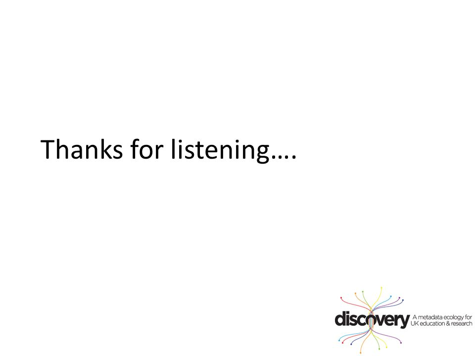 Thanks for listening….