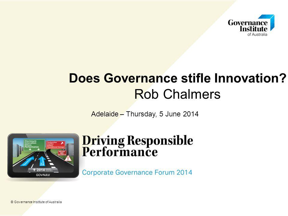 Does Governance stifle Innovation.