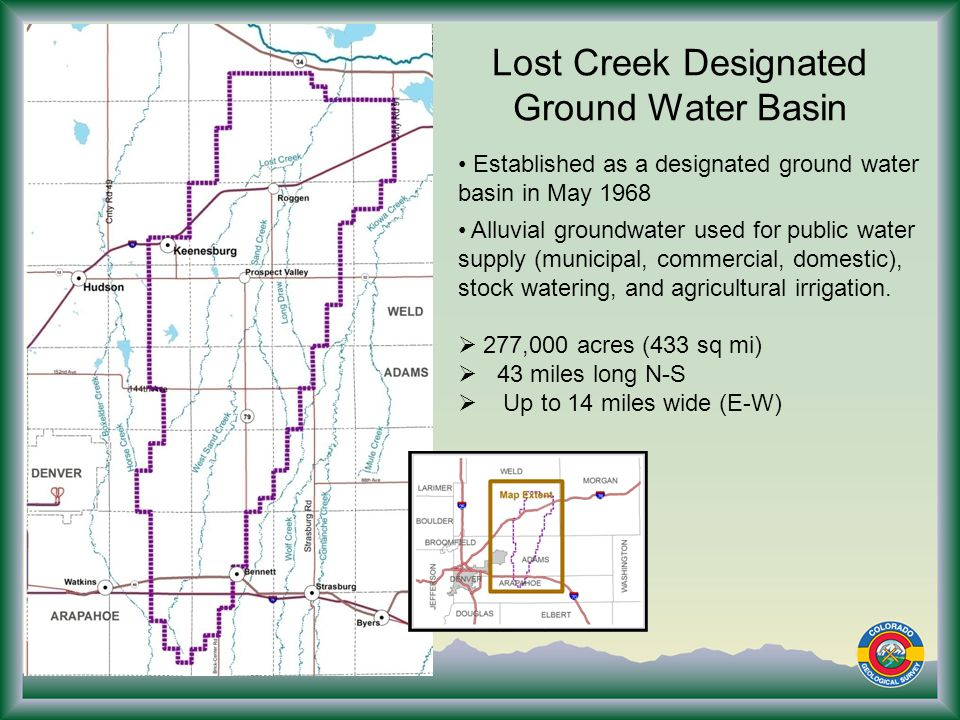Conclusions Water users in the basin are reliant on groundwater from the alluvial aquifer for agricultural, domestic, and commercial uses.