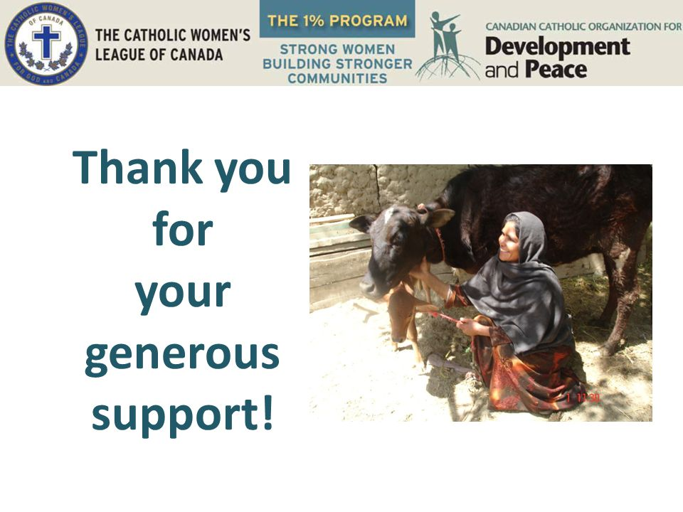 Thank you for your generous support!