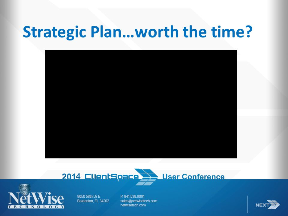 Strategic Plan…worth the time