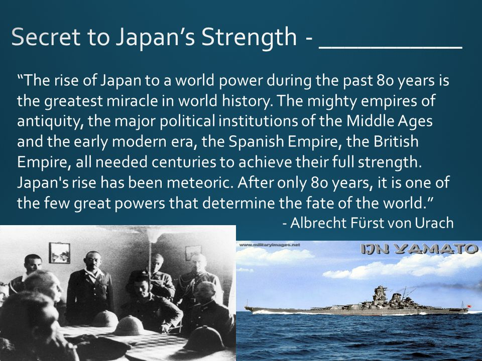 The rise of Japan to a world power during the past 80 years is the greatest miracle in world history.