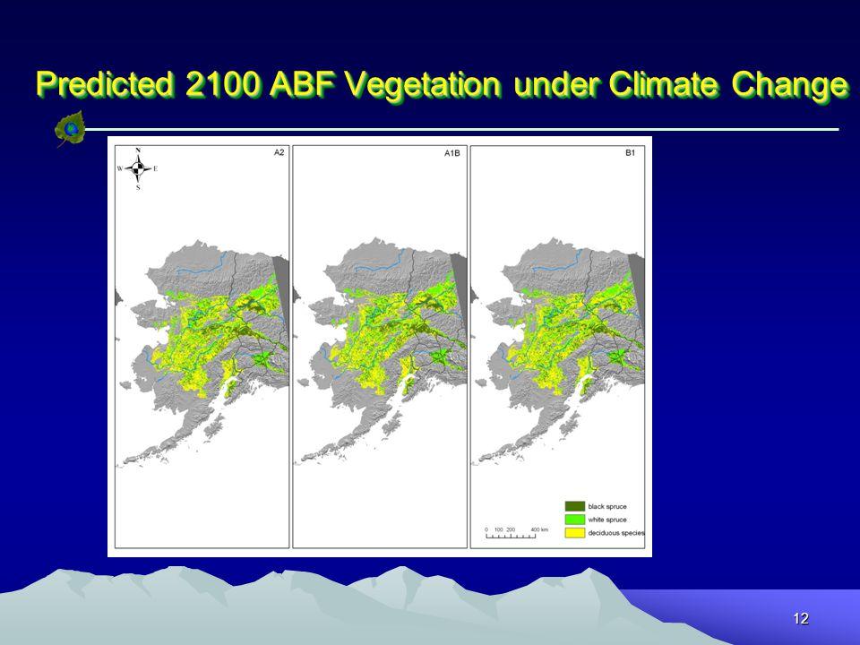 12 Predicted 2100 ABF Vegetation under Climate Change