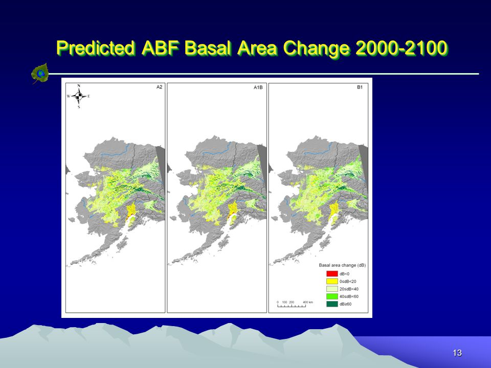 13 Predicted ABF Basal Area Change 2000-2100