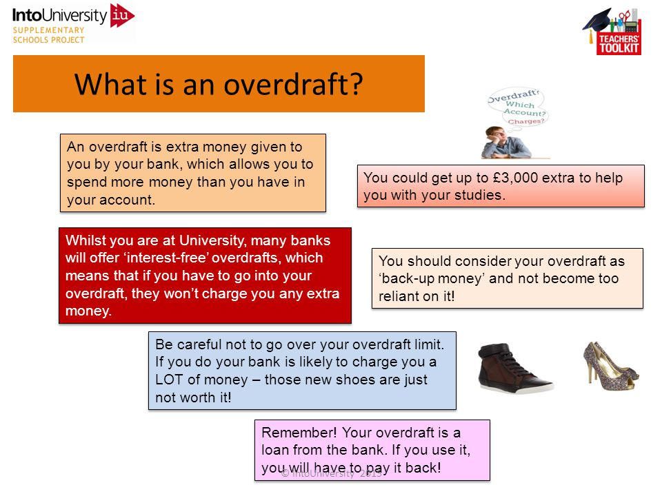 What is an overdraft.