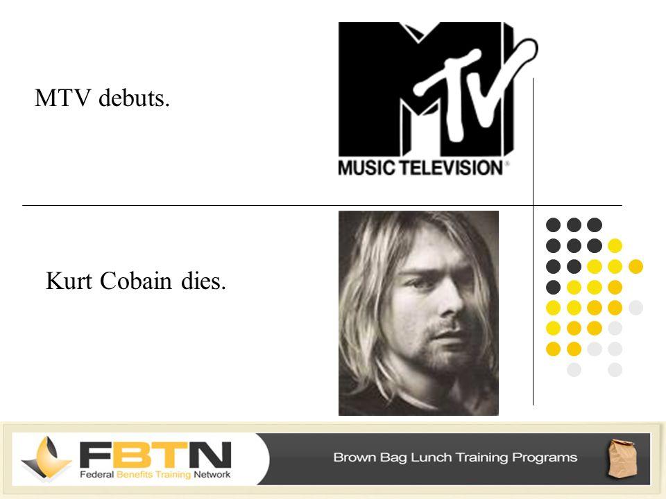 MTV debuts. Kurt Cobain dies.