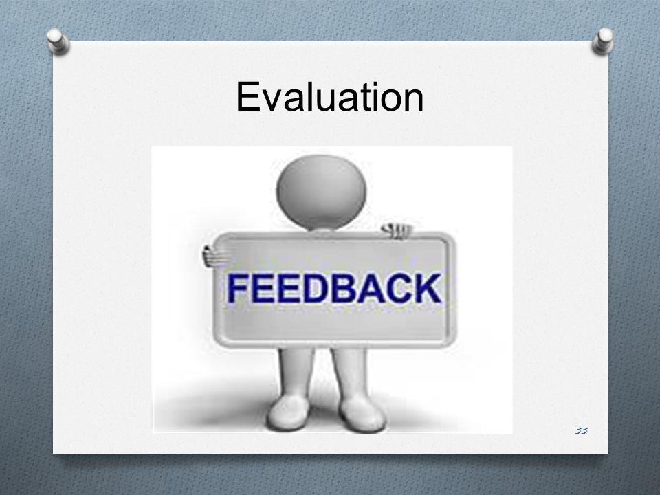 Evaluation 33