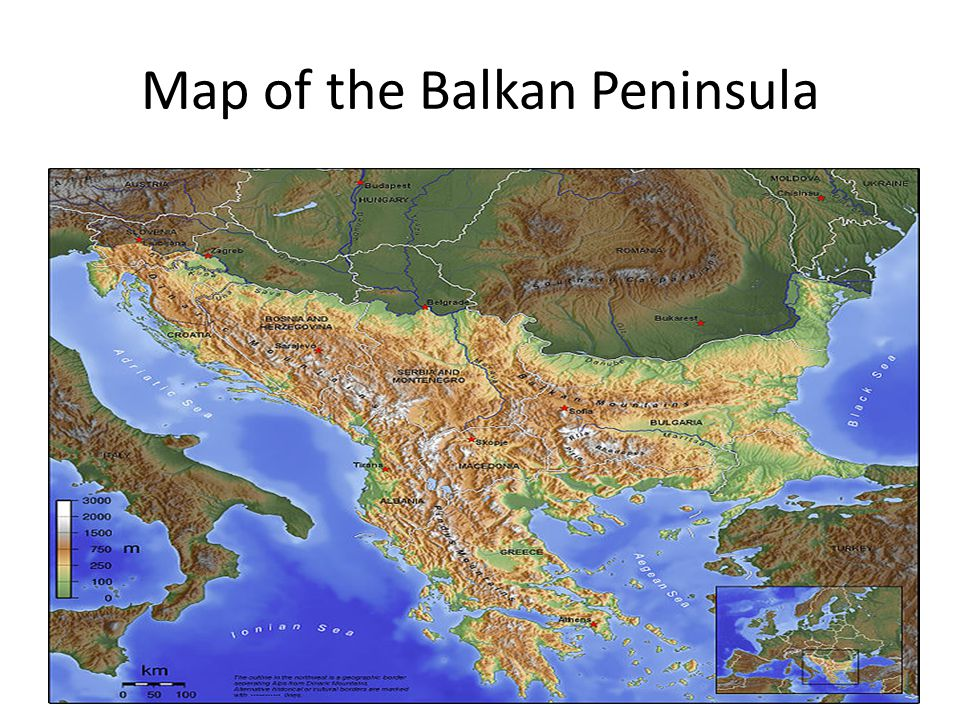 Map of the Balkan Peninsula