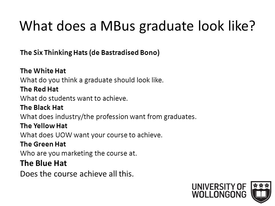 What does a MBus graduate look like.