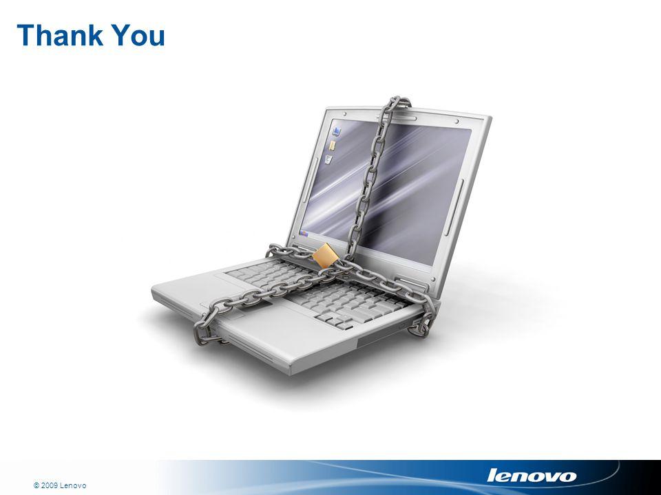 © 2009 Lenovo Thank You