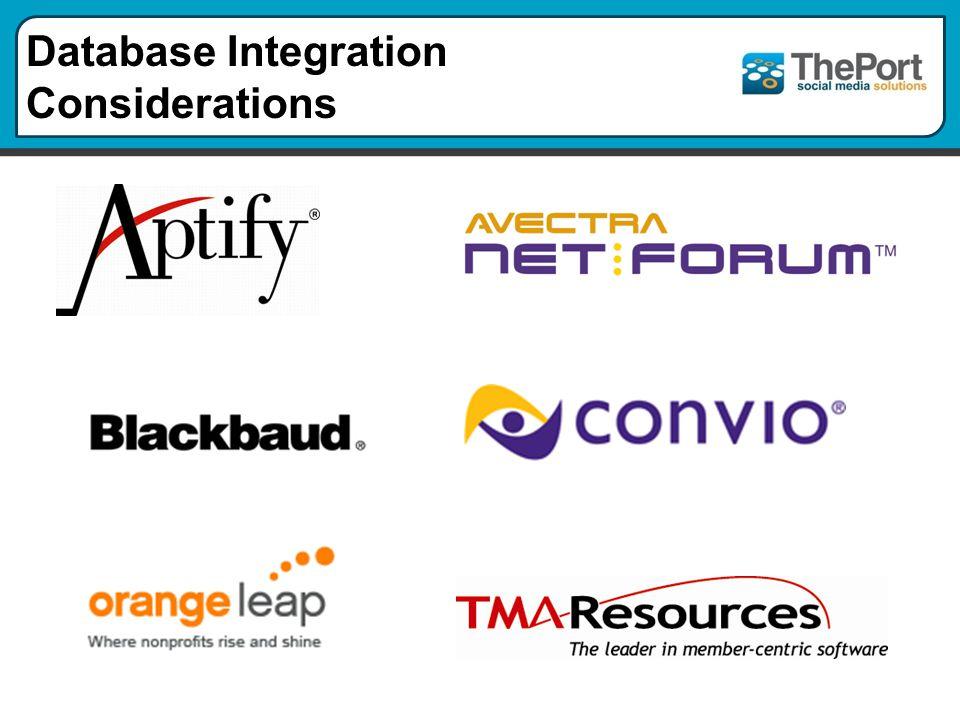 Database Integration Considerations