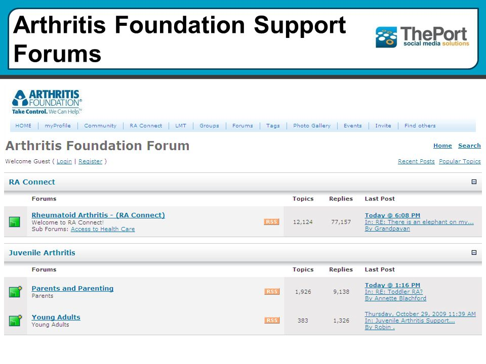 Arthritis Foundation Support Forums