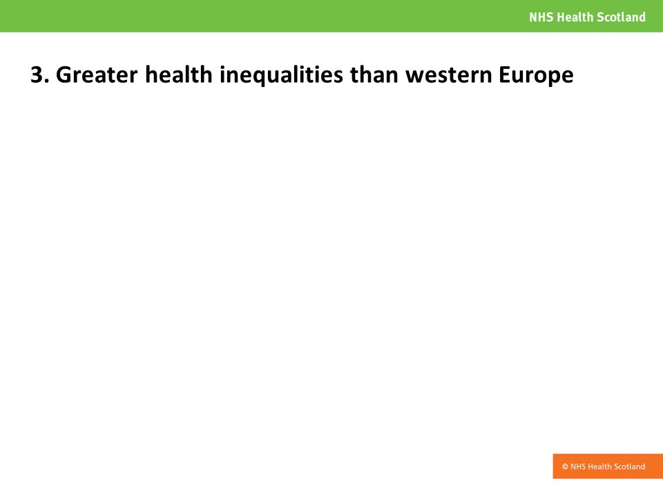 3. Greater health inequalities than western Europe