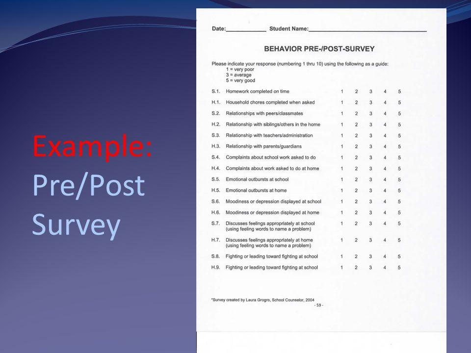 Example: Pre/Post Survey