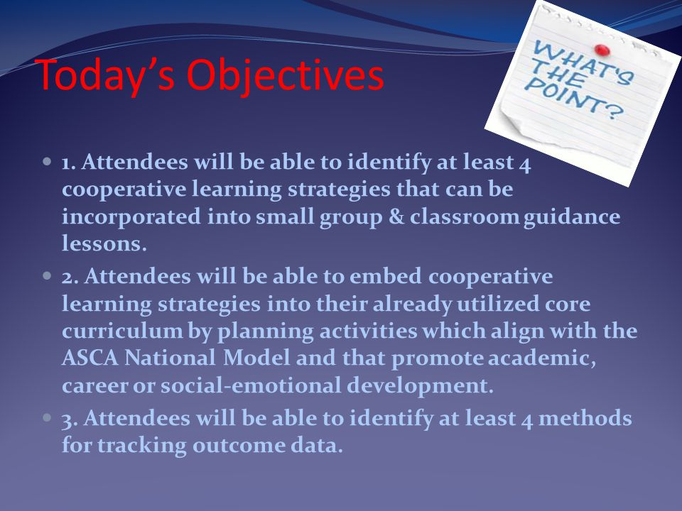 Today's Objectives 1.