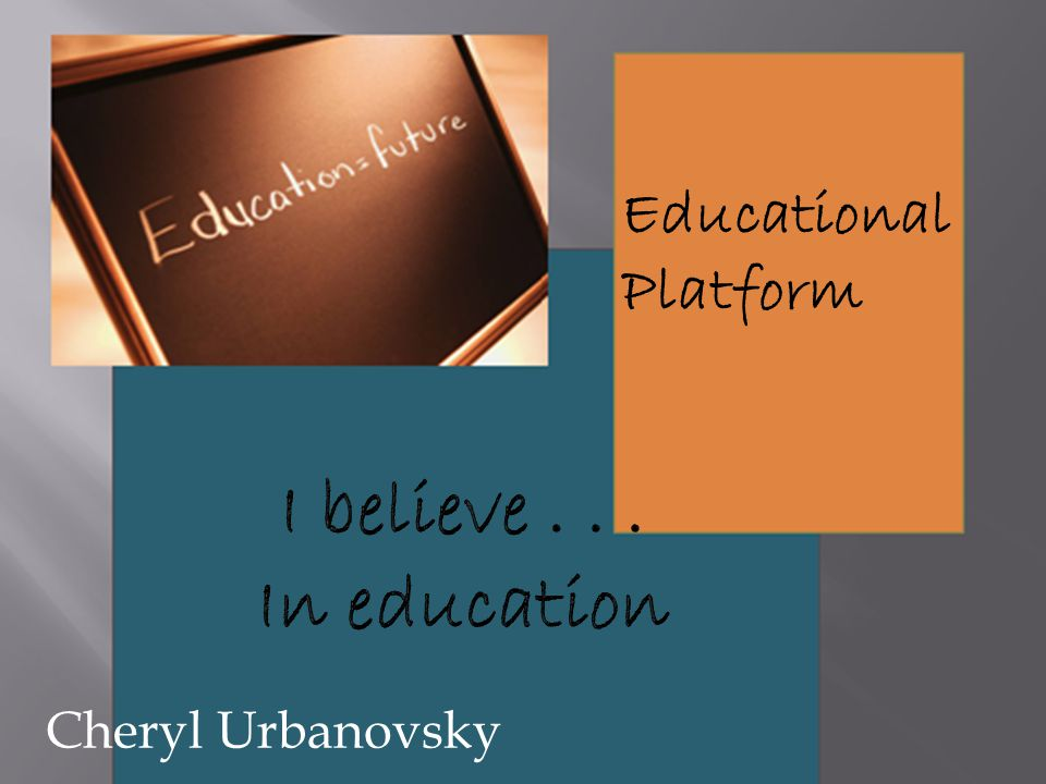 Educational Platform Cheryl Urbanovsky
