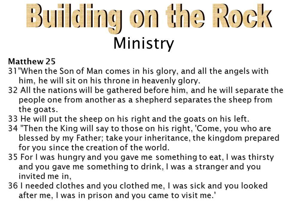 Ministry Matthew 25 31