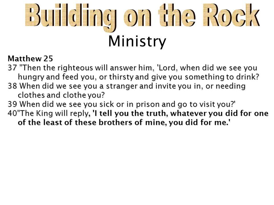 Ministry Matthew 25 37