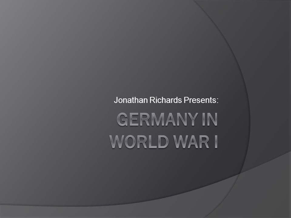 Jonathan Richards Presents: