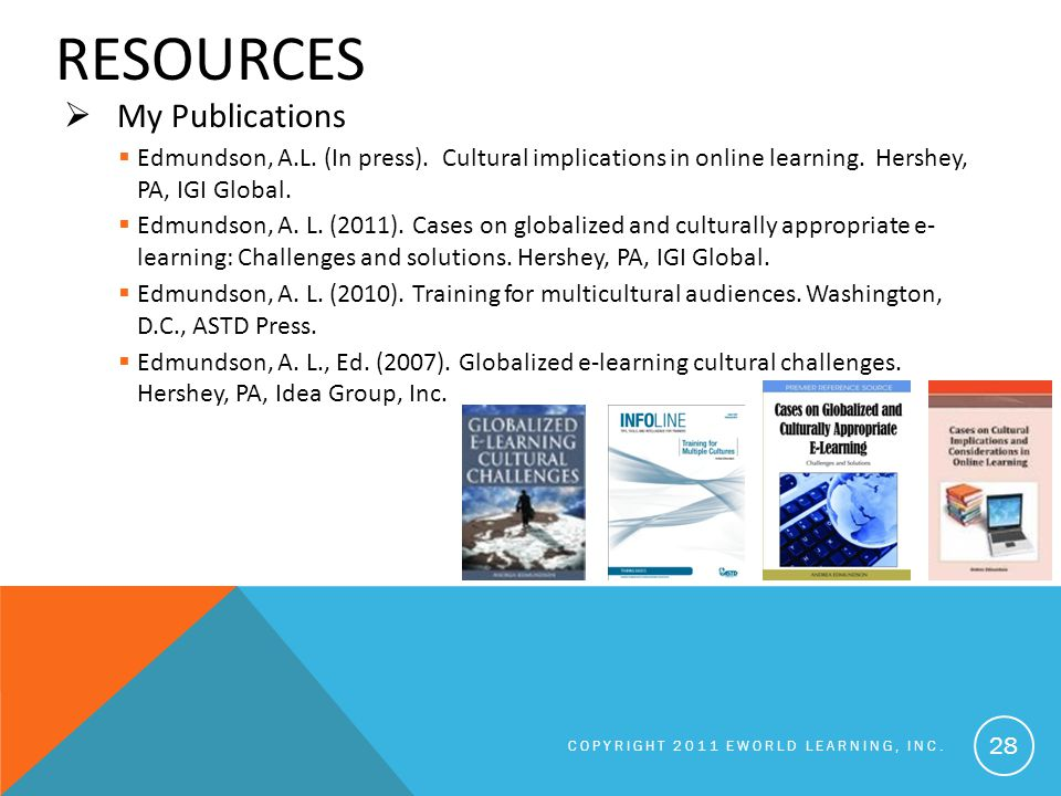 RESOURCES  My Publications  Edmundson, A.L. (In press).