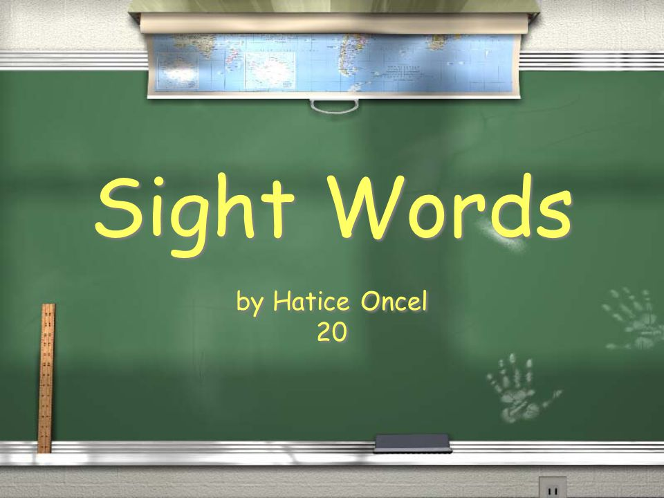 Sight Words by Hatice Oncel 20 by Hatice Oncel 20