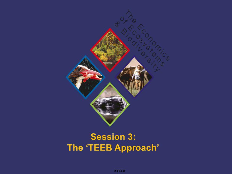 TEEB Training Session 3: The 'TEEB Approach' ©TEEB