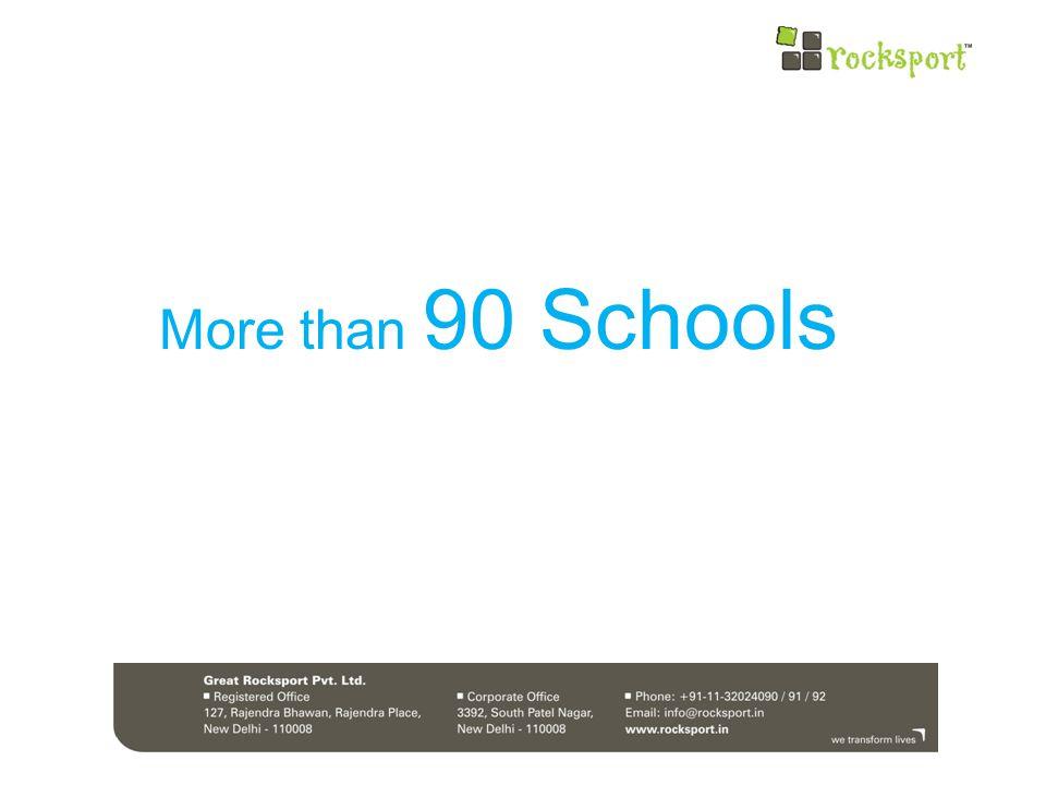 More than 90 Schools