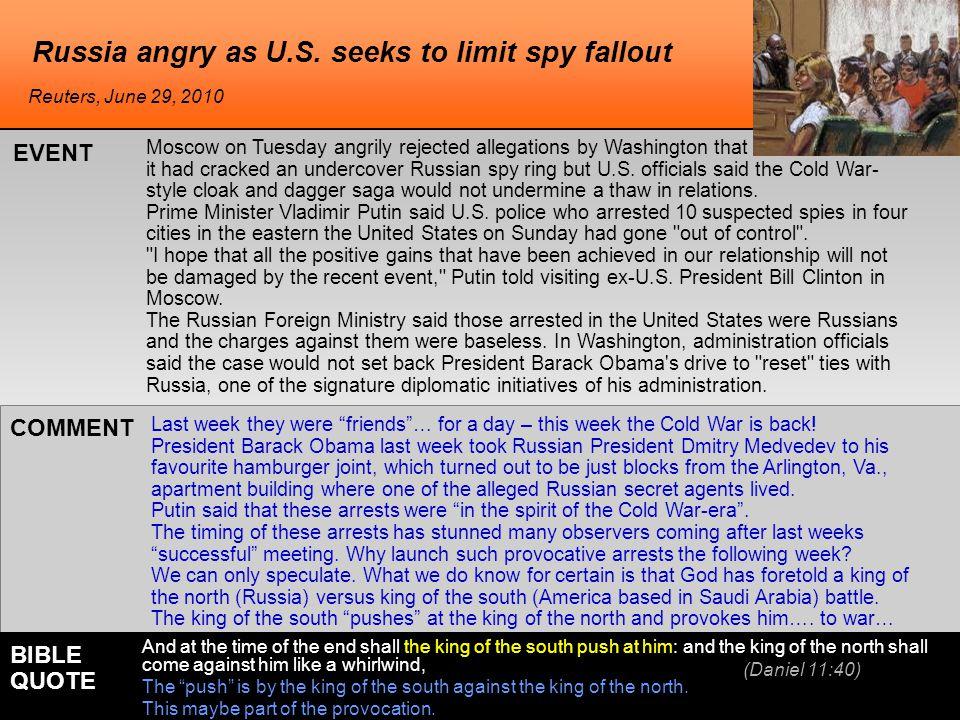Russia angry as U.S.