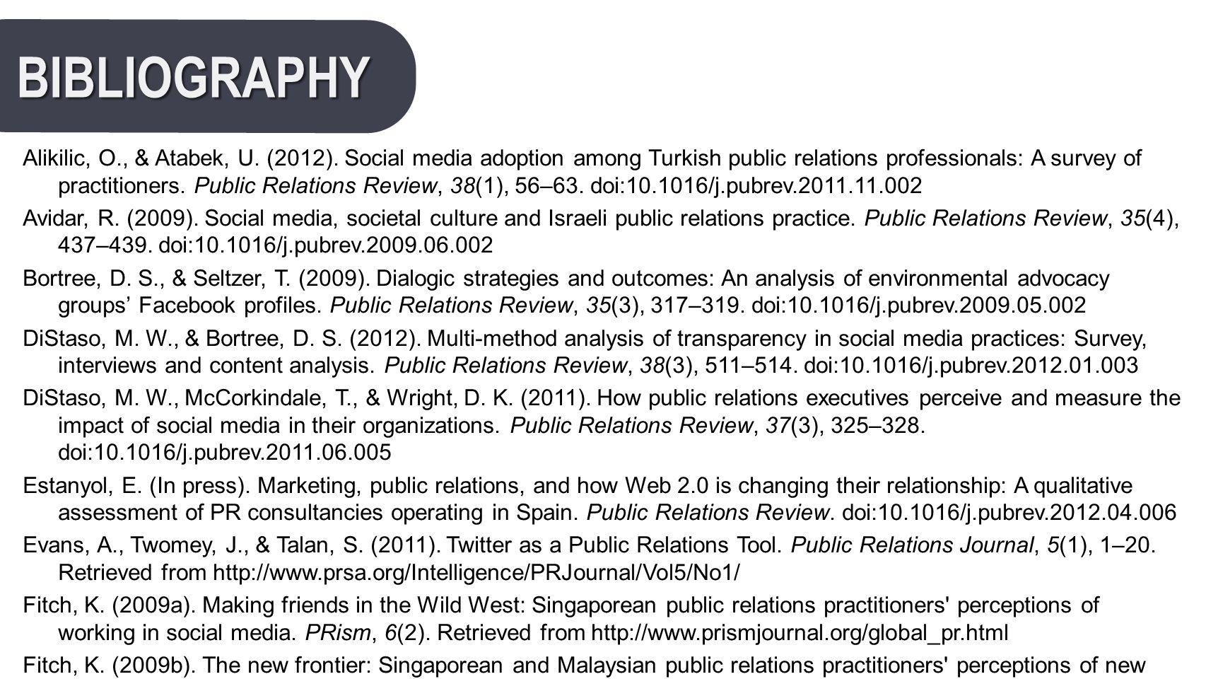 BIBLIOGRAPHY Alikilic, O., & Atabek, U. (2012).