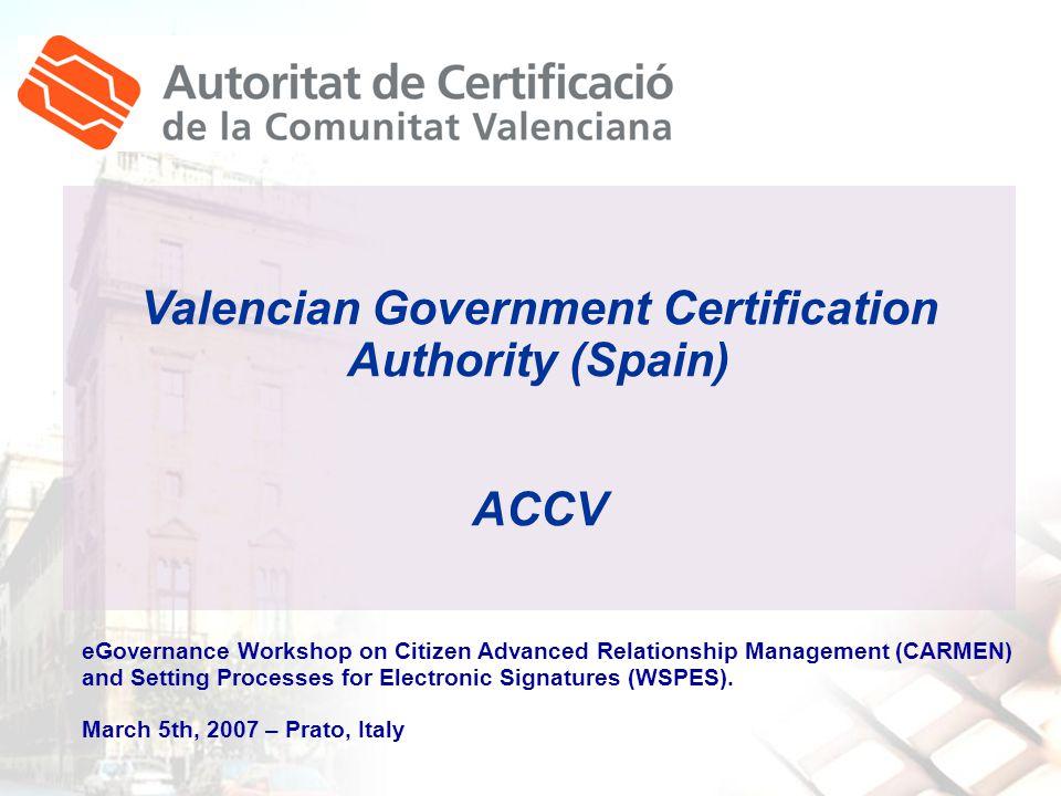Encarna Giménez Ene egimenez@accv.es@accv.es Autoritat de Certificació de la Comunitat Valenciana www.accv.es 902 482 481 ACCV-Informa monthly gazette RSS Channel