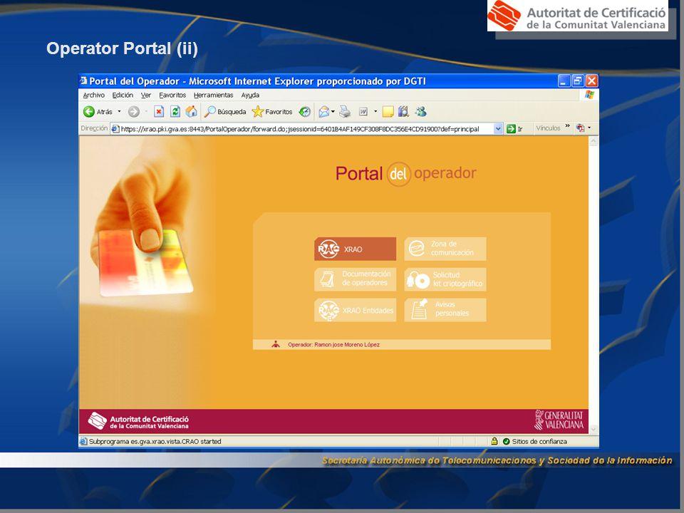Operator Portal (ii)