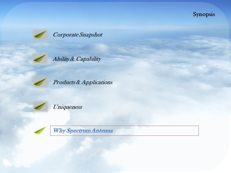 Ability & Capability Products & Applications Uniqueness Corporate Snapshot Synopsis