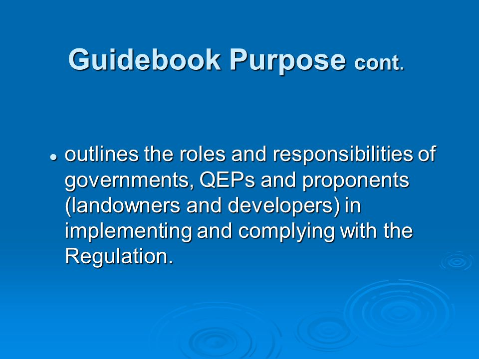 Update to Guidebook Update to Guidebook  Section 1.7 Riparian Assessment Areas & Assessment Reports Clarification of when to apply measures for simple and detailed assessment (simple - SPEA includes measures, whereas in the detailed - measures are in addition to SPEA).