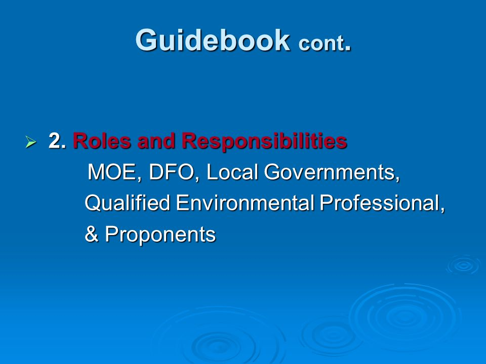 Guidebook cont. 3.