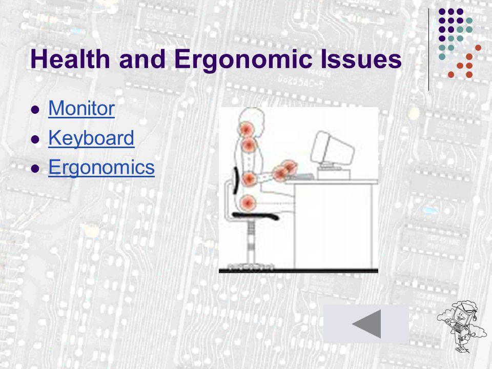 Health and Ergonomic Issues Monitor Keyboard Ergonomics