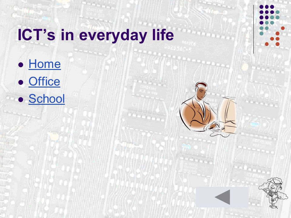 ICT's in everyday life Home Office School