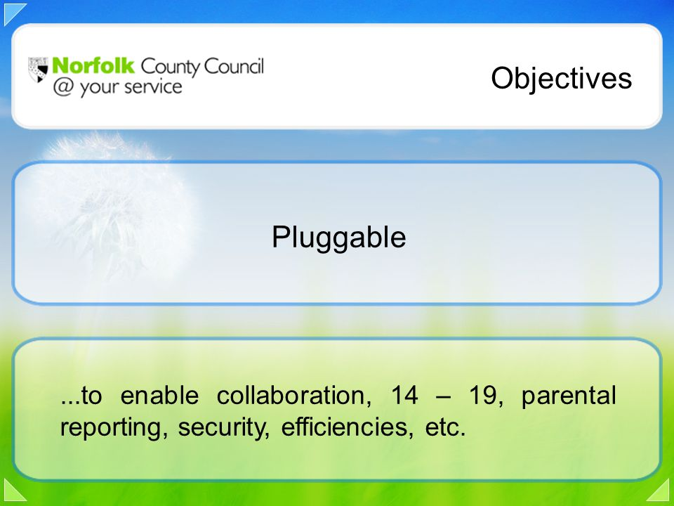 ...to enable collaboration, 14 – 19, parental reporting, security, efficiencies, etc.
