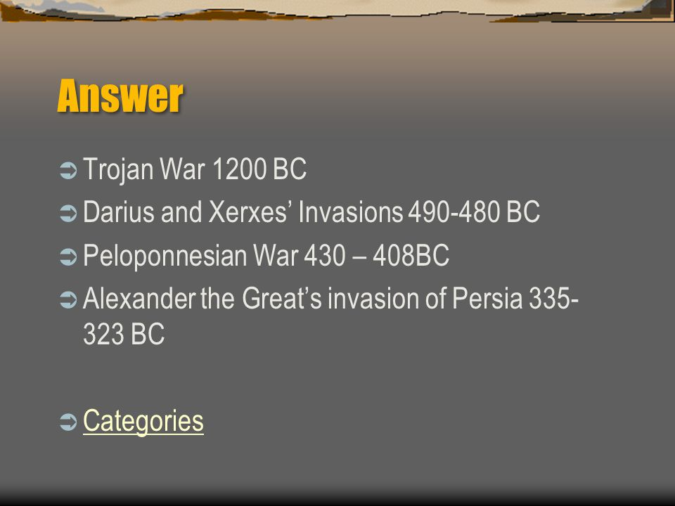 300  Put the following wars in order from beginning to end.