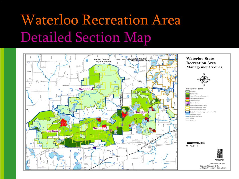 Pinckney & Waterloo Rec Areas For Additional Information PROJECT WEBSITE http://www.birchlerarroyo.com/Clients/DNR-RD.htm EMAIL jbahm@birchlerarroyo.com | dbirchler@birchlerarroyo.com PHONE 248.423.1776