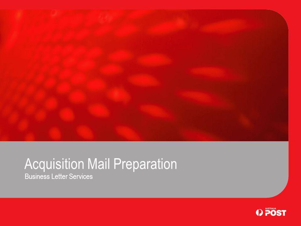 Acquisition Mail Preparation Business Letter Services