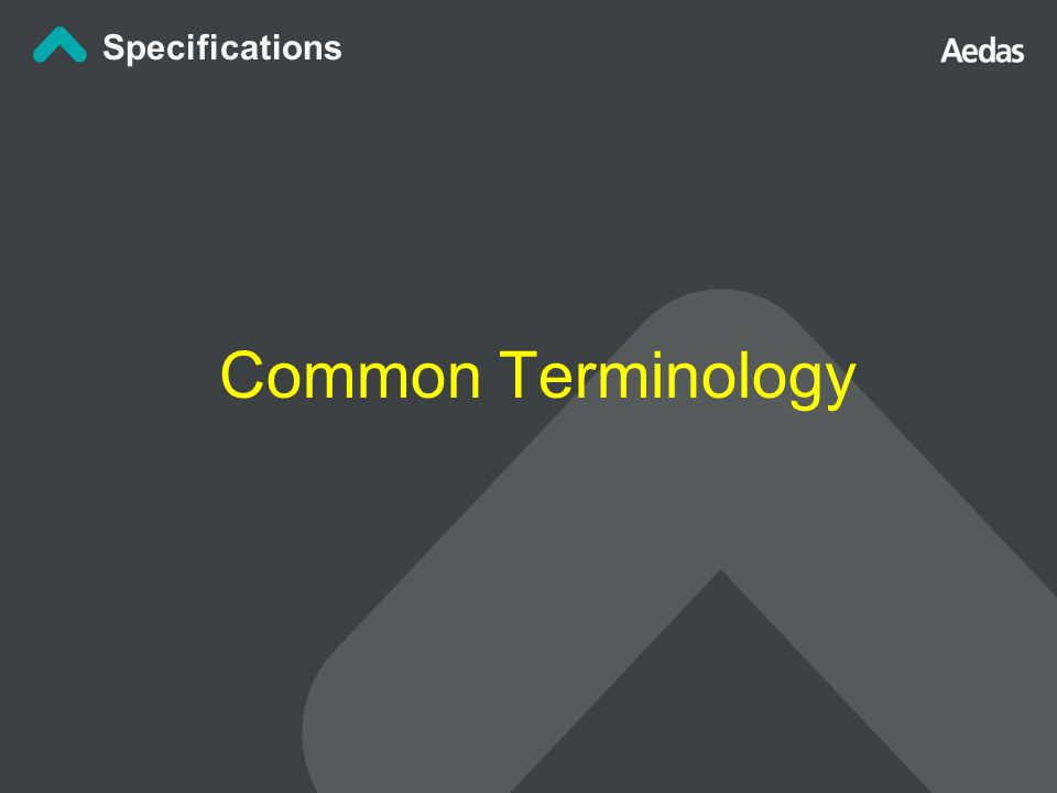 Common Terminology Specifications
