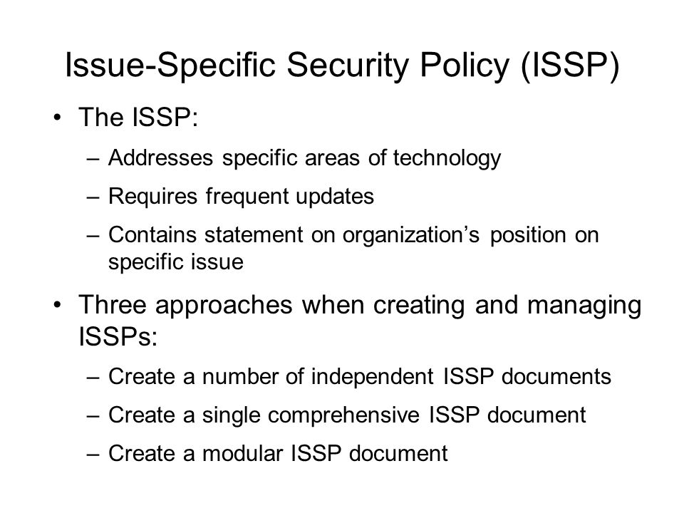 Baselining and Best Business Practices Baselining and best practices are solid methods for collecting security practices, but provide less detail than a complete methodology Possible to gain information by baselining and using best practices and thus work backwards to an effective design The Federal Agency Security Practices (FASP) site (fasp.nist.gov) designed to provide best practices for public agencies and adapted easily to private institutions