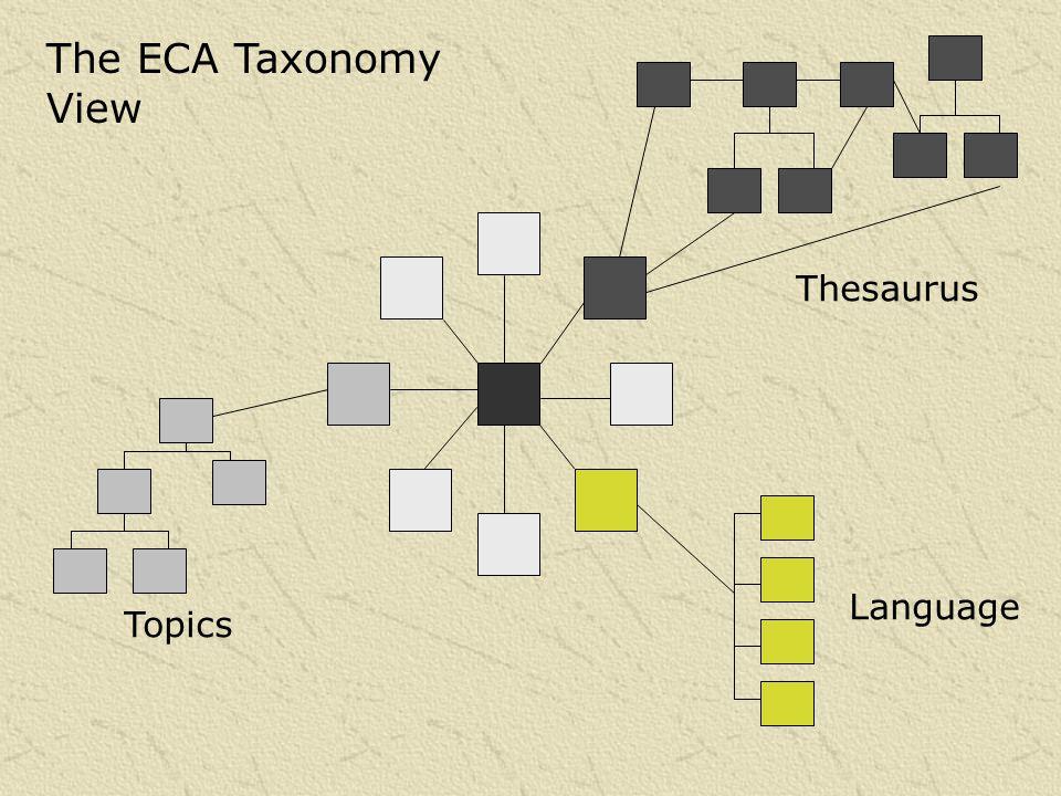 The ECA Taxonomy View Thesaurus Topics Language