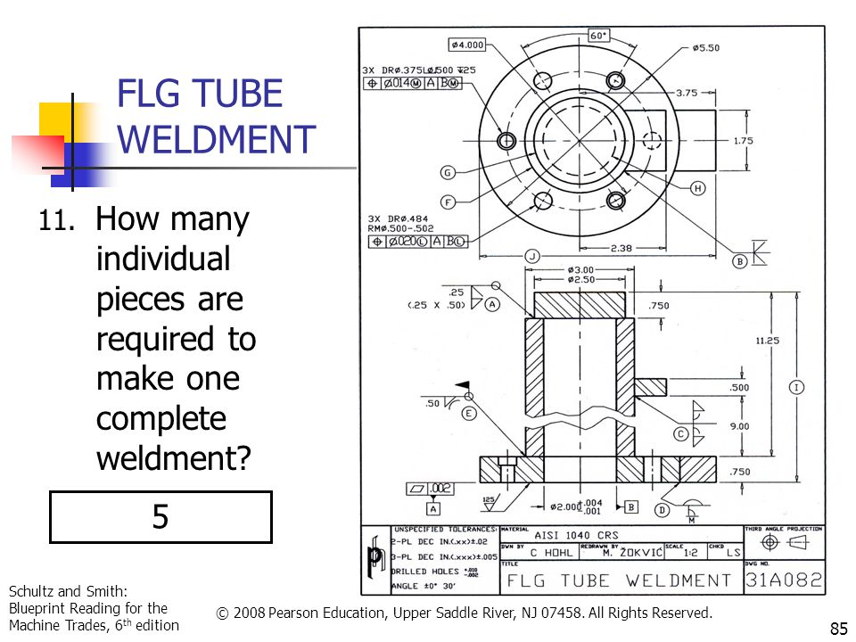 Schultz and Smith: Blueprint Reading for the Machine Trades, 6 th edition © 2008 Pearson Education, Upper Saddle River, NJ 07458. All Rights Reserved.