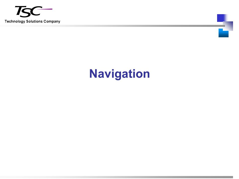 Technology Solutions Company Navigation