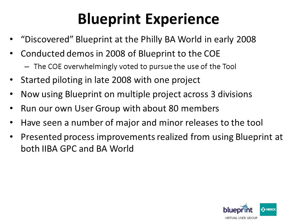 Workflow Overview – In Blueprint