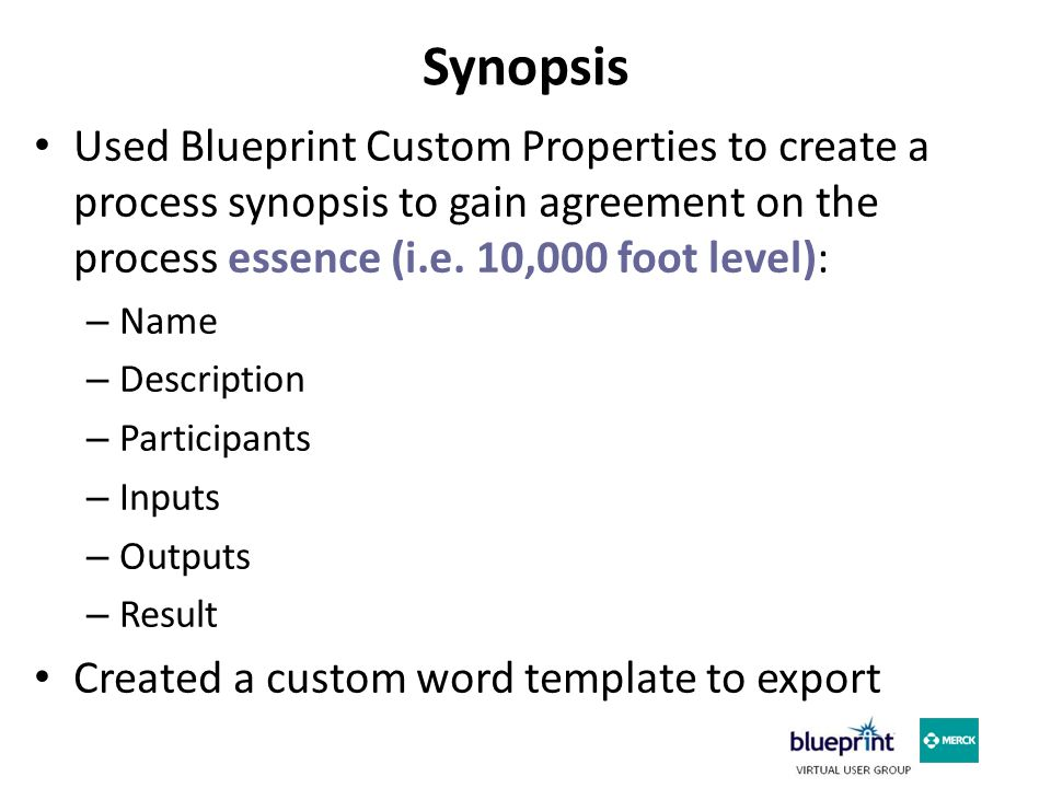 Synopsis – In Blueprint