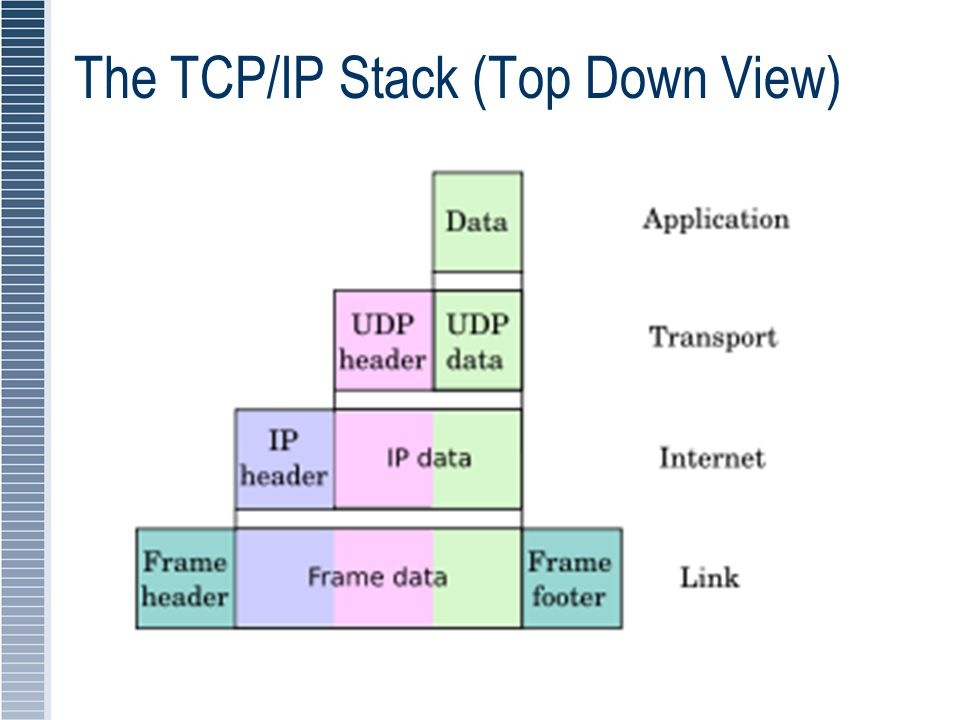 The TCP/IP Stack (Top Down View)