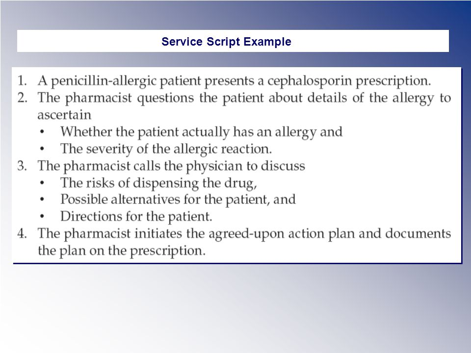 Service Script Example